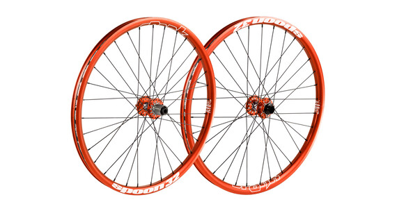 "Spank Spoon32 EVO wiel 26"" VR: 20/110 mm, HR: 12/150 mm oranje"